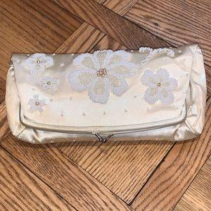 Vintage Hand Made Cream & White Bag